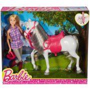Mattel Barbie DHB68 Barbie és lova (új)