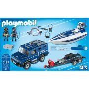 Playmobil 5187 Rendőrautó és hajó víz alatti motorral (új)