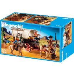 Playmobil 5248 Vadnyugati banditák ponyvás kocsival (új, csomagolássérült)
