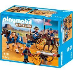 Playmobil 5249 Western lovaskocsi amerikai katonákkal (új, csomagolássérült)