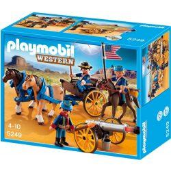 Playmobil 5249 Western lovaskocsi amerikai katonákkal (új)