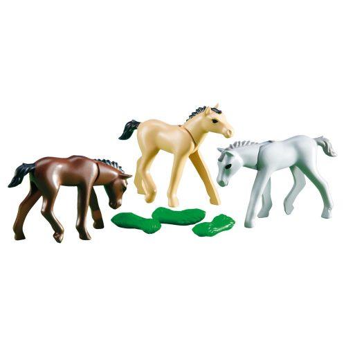 Playmobil 6263 3 ló csikó szénával (új)