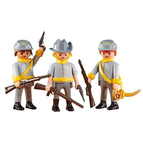 Playmobil 6276 3db-os Konföderációs katona csapat (új)