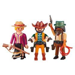 Playmobil 6278 3db-os Cowboy csapat (új)