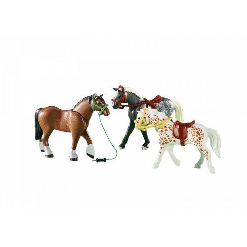 Playmobil 6360 3 ló felszereléssel (új)