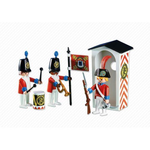 Playmobil 6413 Angol katonák őrbódéval (új)