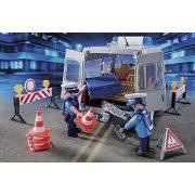 Playmobil 9236 Rendőrségi autóbusz útlezárás (új)