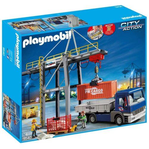 Playmobil 9540 Elektromos rakodóhíd kamionnal (új)