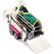 Schleich 42346 Terepjáró lószállítóval és Fríz lóval (új, csomagolássérült)