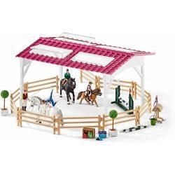 Schleich 42389 Lovaglóiskola lovas lányokkal és lovakkal (új)