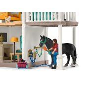 Schleich 42416 Lakóház istállóval és lovakkal (új)