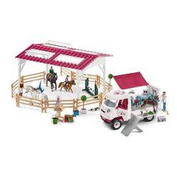 Schleich 72121 Lovaglóiskola állatorvosi autóval és lovakkal (új)